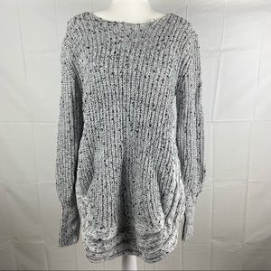 Dream House Silver Long Sleeve Sweater Size 8
